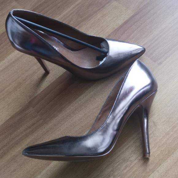 Silver Aldo heels
